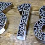 Como fazer números de metal para endereço cortados a plasma