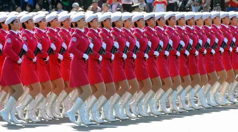 Disciplina de soldadas chinesas