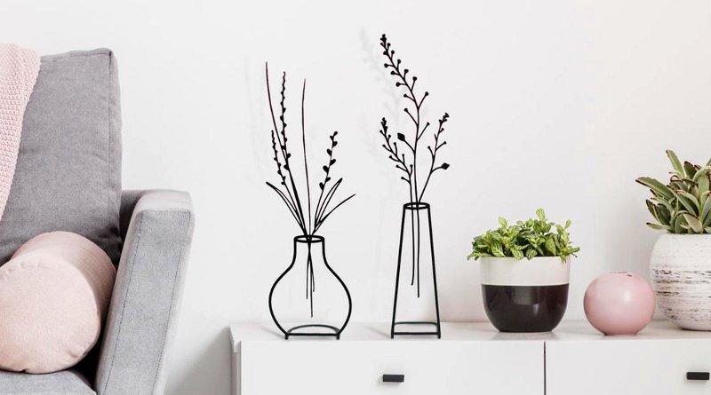 Vasos para plantas com design minimalista