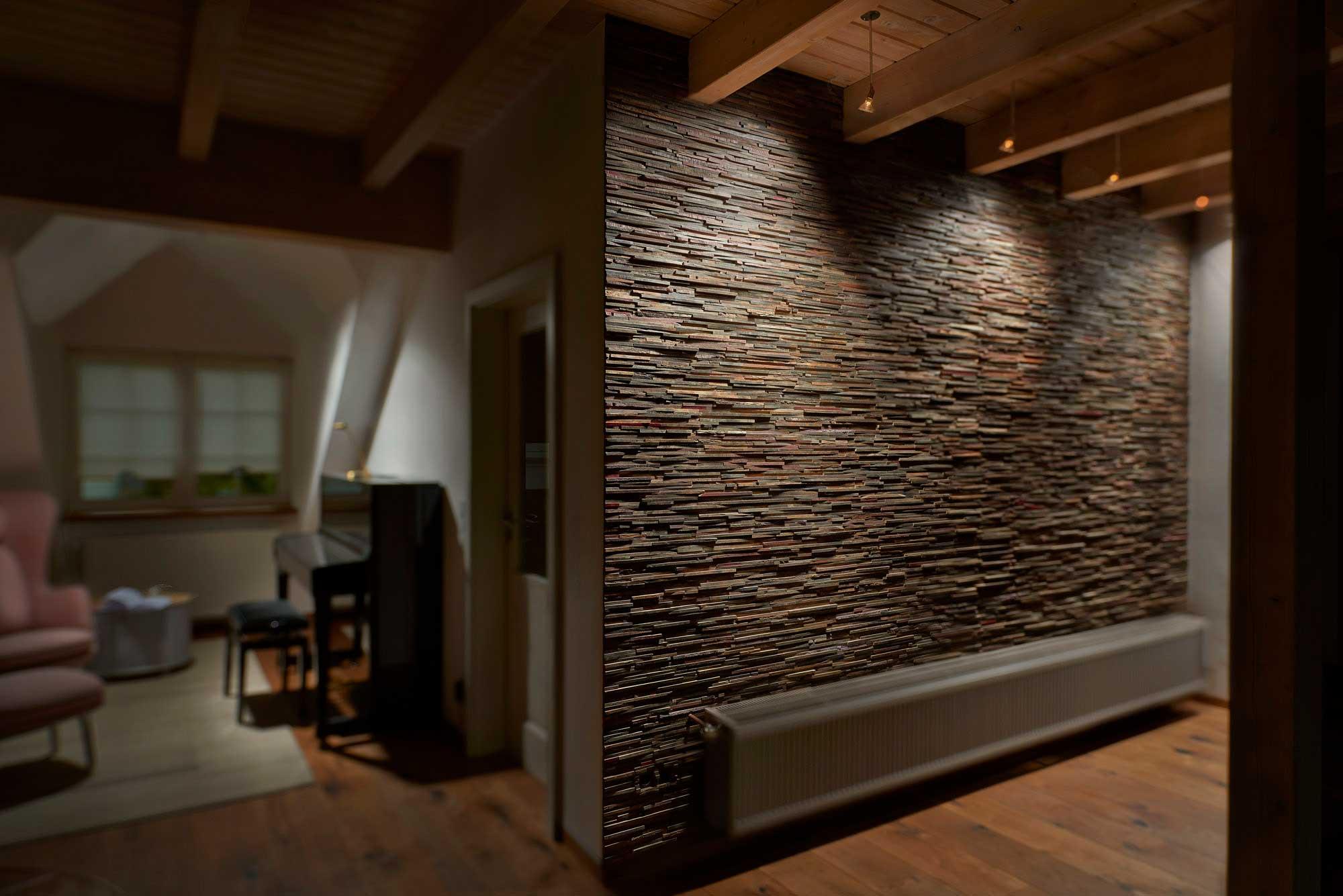 Wandpaneele aus Holz  alte Weinfsser neu verarbeitet