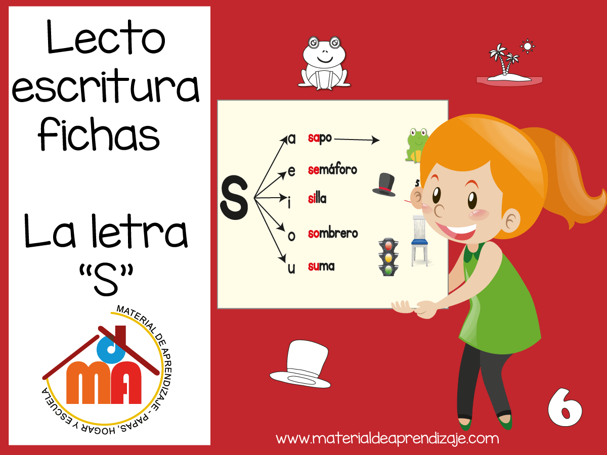 Fichas de Lectoescritura para niños de primer grado 5 y 6 años