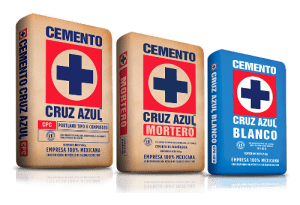 Envasados cemento mortero cemento blanco cruz azul
