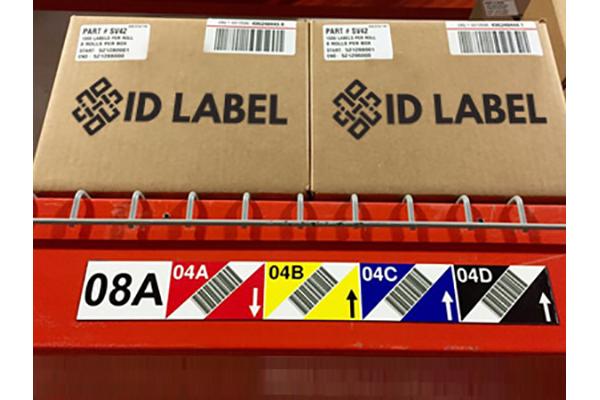 sidescan45 warehouse rack labels