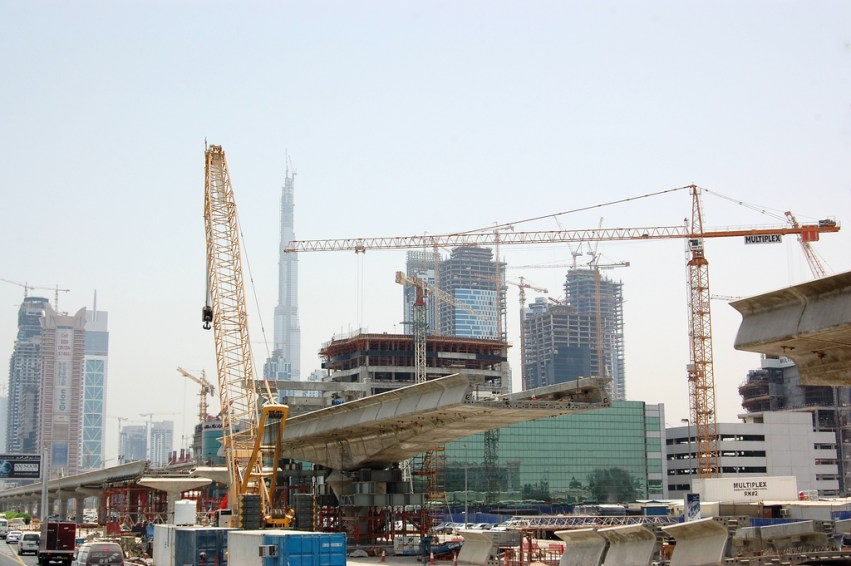 burj khalifa materials handling
