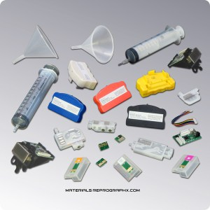 Inkjet Printer Parts, Maintenance tanks, Maintenance tank resetters, Cartridge chips, Chip Resetters, Chip Decoders, Inkjet Print Heads, Syringes, Inkjet Dampers & accessories.