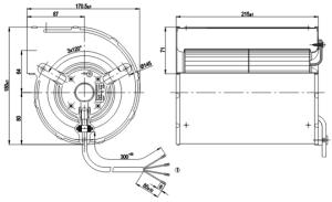 EBM PAPST AC Centrifugal Fan, D2E133AM4701  Honest