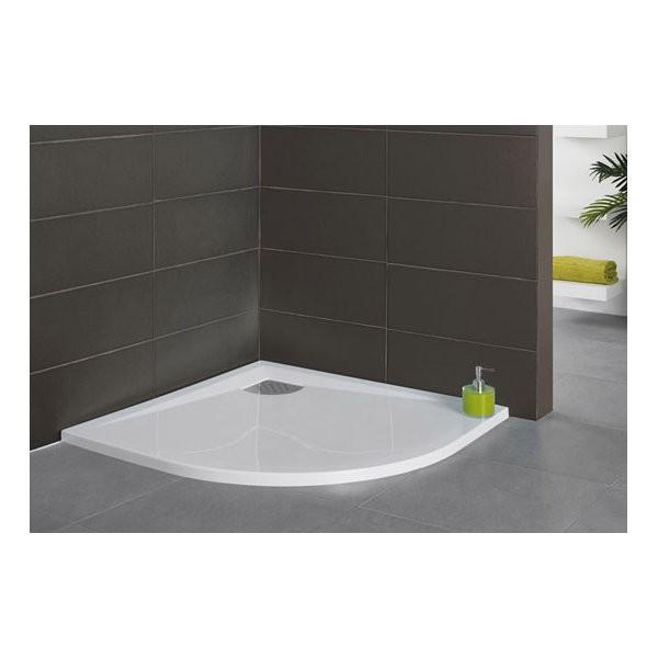 receveur de douche kinesurf 1 4 de rond 100 x 100 cm coloris blanc