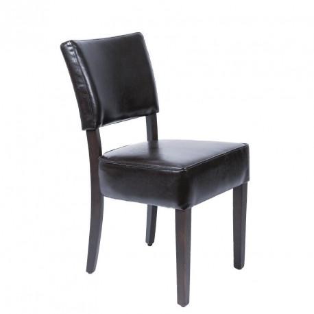 chaises confortables en simili cuir marron fonce bolero lot de 2