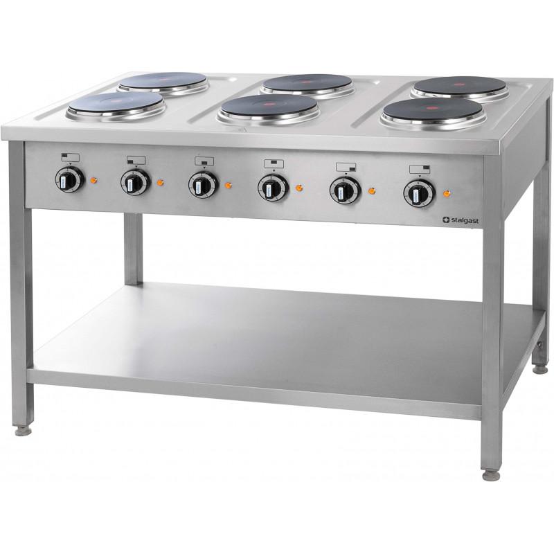 piano de cuisson electrique professionnel 6 plaques serie 700 stalgast