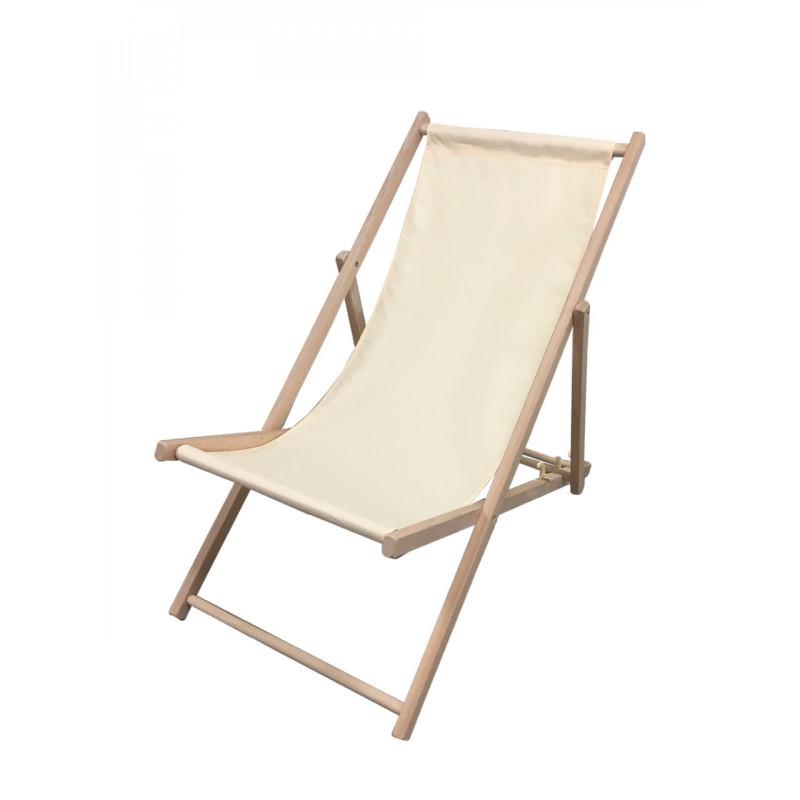 chaise longue chilienne en bois et toile