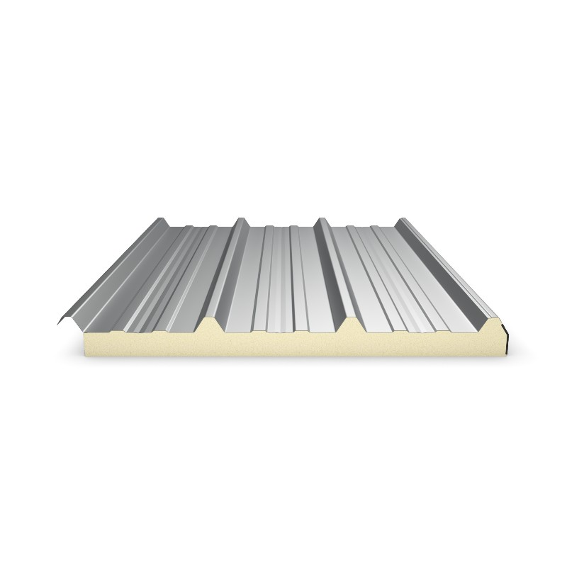 panneau sandwich 5m10 eco 30 mm sous face aluminium gris anthracite ral 7016