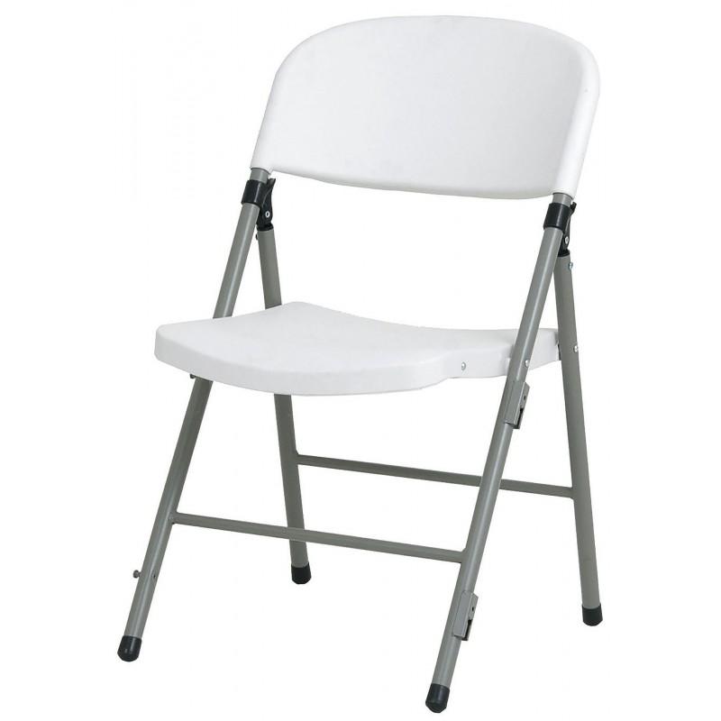 chaise pliante pvc grise