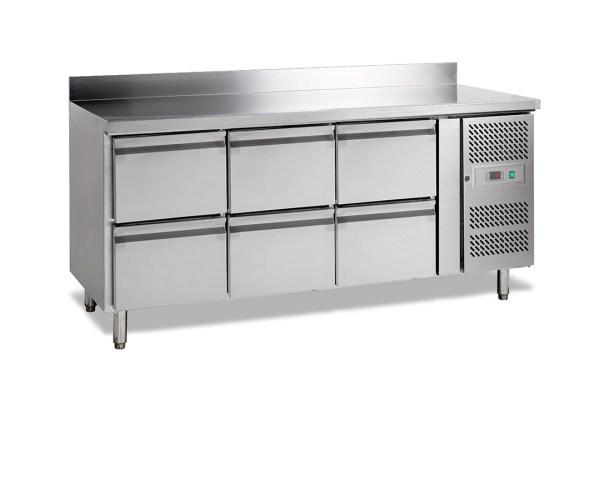 CK7360 - TABLE REFRIGEREE GASTRO 700, -2+10°C, 6-TIROIRS, 179CM, 417L, DOSSERET