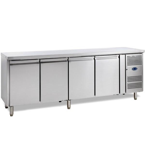 SK6410 TABLE RÉFRIGÉRÉE POSITIVE -2+10°C, 4 PORTES, PROFONDEUR 600, 223 CM, 480 L, INOX, SNACK ET SANDWICH
