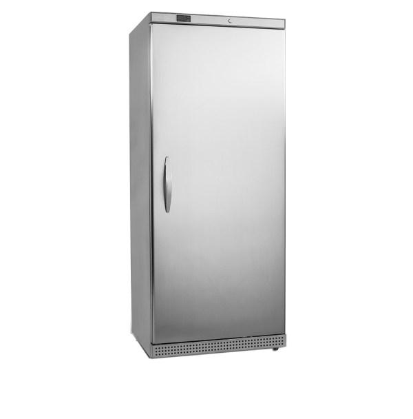 UFS600PS OPTION INOX, CONGÉLATEUR ARMOIRE FROID STATIQUE -10 -24°C, 605 L, 6 ÉTAGÈRES FIXES