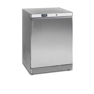 UFV200PS - OPTION INOX. CONGELATEUR TABLETOP HAUTEUR 85CM, 200L, FROID VENTILE -10 - 24°C, 3 ETAGERES REGLABLES