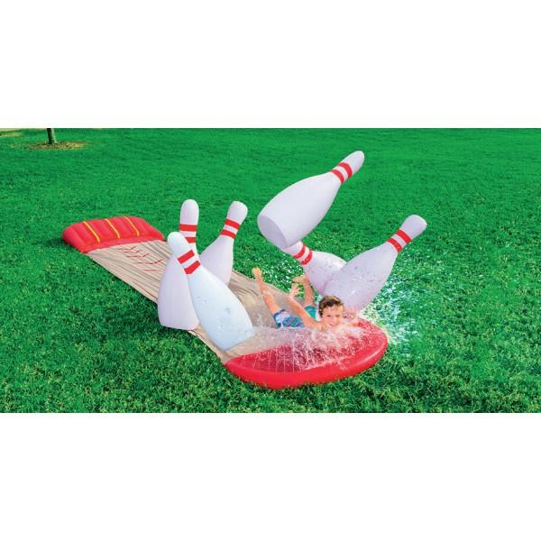 tapis de glisse jeu de bowling avec jet