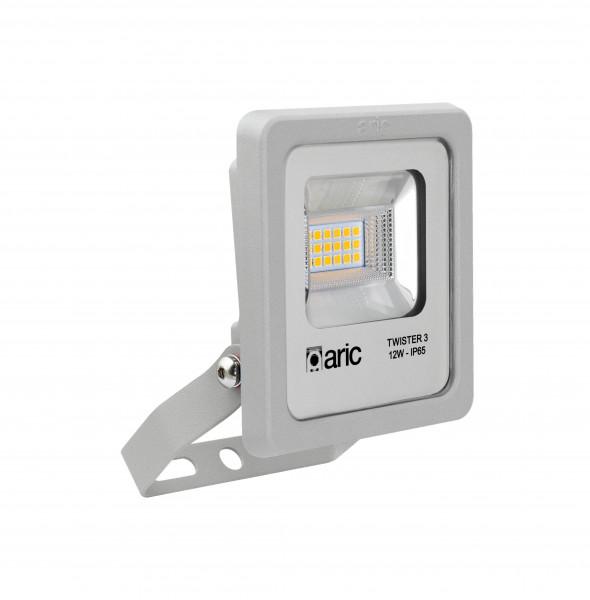 Aric 50831 Twister 3 - proj. ext. ip65 ik08. gris. 90° led intégré 12w 3000k 1450lm
