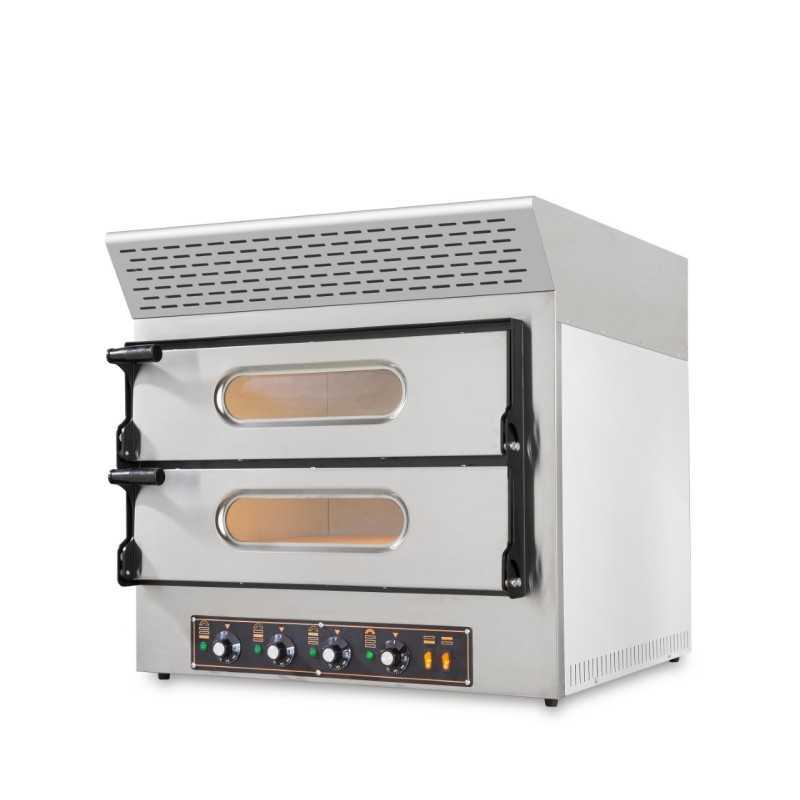 four pizzas professionnel electrique 4 pizzas 230 v 4 x 30 cm equipe d une hotte d extraction de fumee charbon actif
