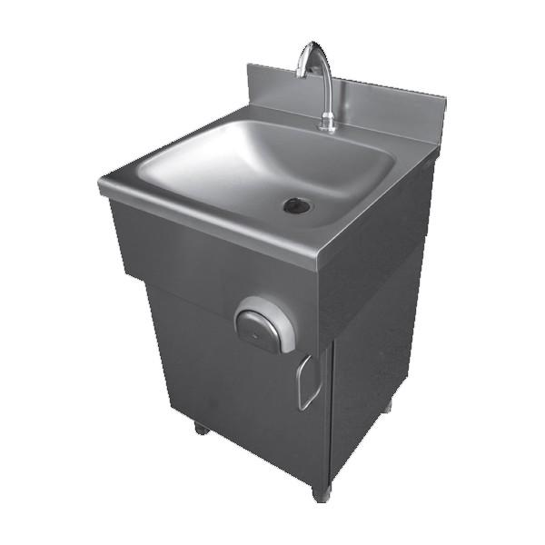lave main cuisine professionnelle sur placard porte battante profondeur 400 mm