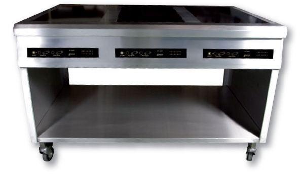 meuble induction sur mesure 6 feux modulaire 6 x 3 500w