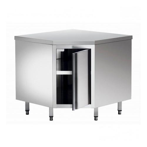 meuble d angle 1 porte acier inox l 1000 x p 1000 x h 600x900 mm