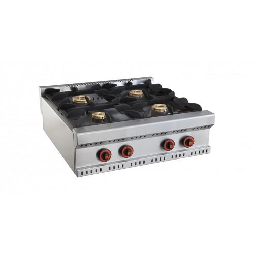 cuisiniere a gaz sans four ligne 800 modele minho 4 bruleurs
