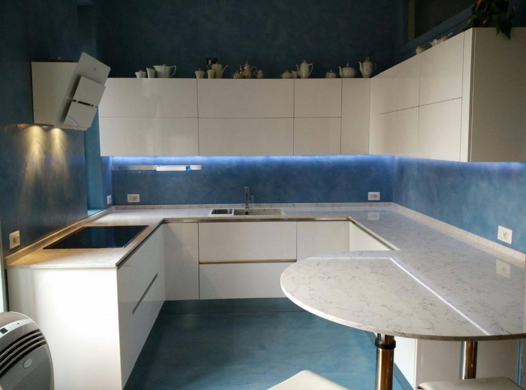 Piastrelle, bagni, pareti, cucine, mobili orizzontali e verticali, interni ed esterni. Angolo Cucina Resina Cementizia Su Vecchie Piastrelle