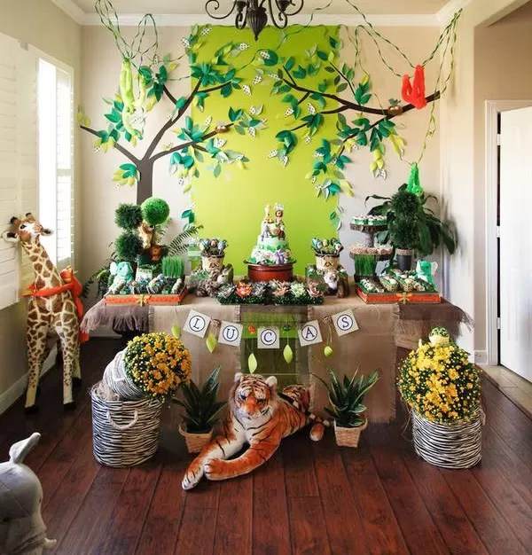 safari decorations for living room best interior design 2017 festa infantil - maternidade colorida