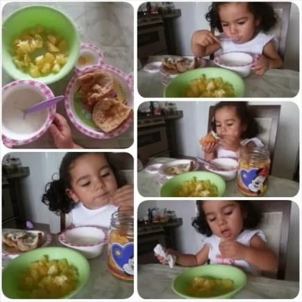 Sugestão de cardápio de café da manhã pra crianças - maternidade colorida