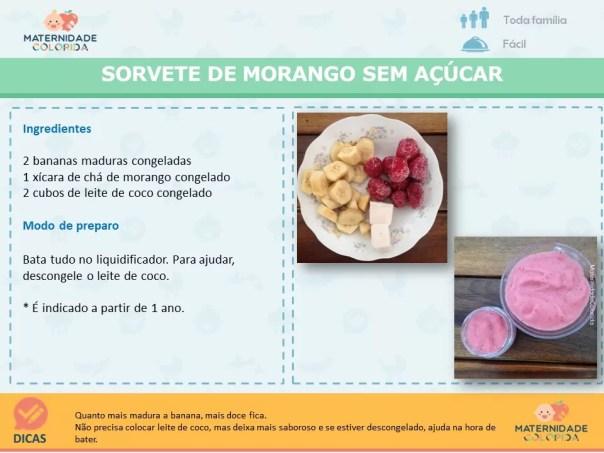 sorvete de morango caseiro sem açúcar