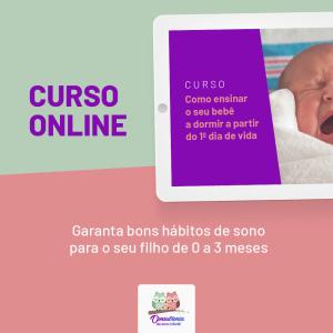 Curso online 0 a 3 meses