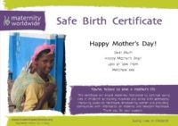 Safe Birth - Mother's Day