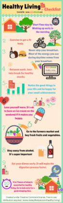 healthy living infographic