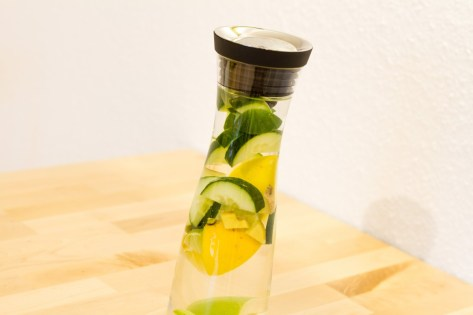 lemon water and cucumber