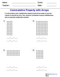 Properties Of Multiplication Worksheets Grade 3 ...