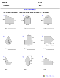 Composite Figures Area Worksheet Free Worksheets Library