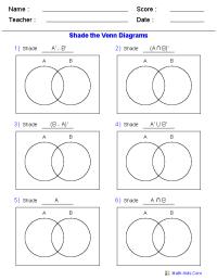 Venn Diagram Worksheets | Dynamically Created Venn Diagram ...