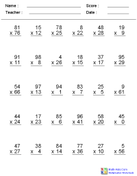Multiplication Worksheets | Dynamically Created ...