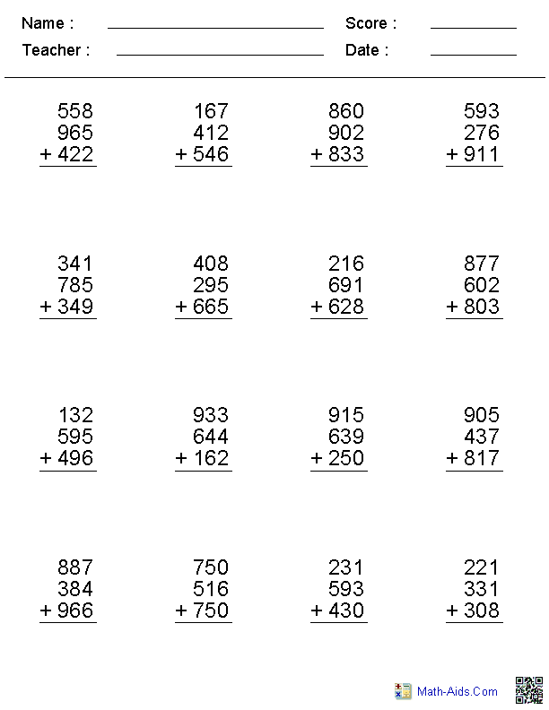 missing number worksheet: NEW 789 MISSING NUMBER ADDITION