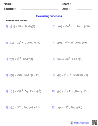 Function Practice Worksheet - Geersc