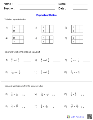 Math Worksheets | Dynamically Created Math Worksheets