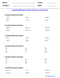 Percent Worksheets | Percent Worksheets for Practice