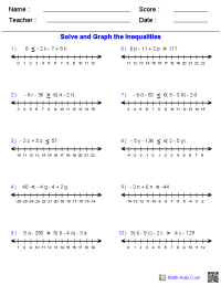 Algebra 1 Worksheets   Dynamically Created Algebra 1 ...