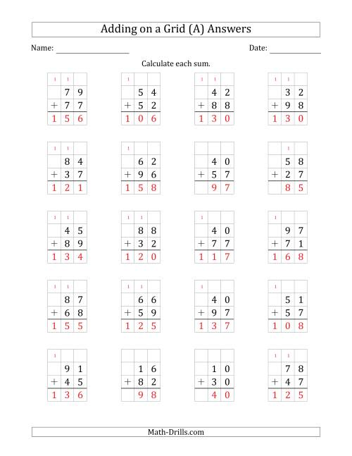 medium resolution of Adding 2-Digit Plus 2-Digit Numbers on a Grid (A)