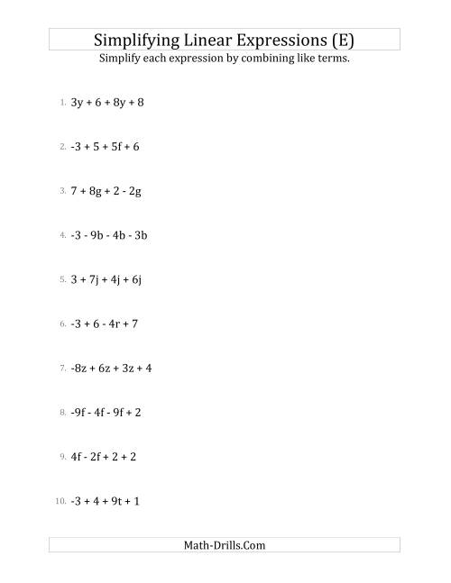 29 Simplifying Polynomial Expressions Worksheet - Worksheet Project List [ 1165 x 900 Pixel ]