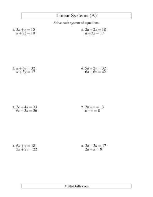 29 Linear Equation In One Variable Worksheet - Free Worksheet Spreadsheet [ 1165 x 900 Pixel ]