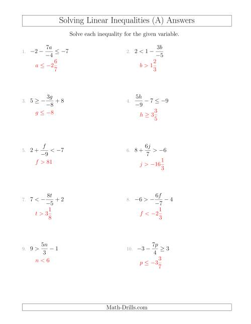 medium resolution of 34 Linear Equations And Inequalities Worksheet - Worksheet Project List