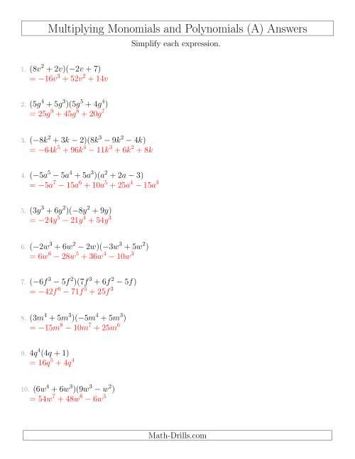 small resolution of 33 Algebra 1 Multiplying Polynomials Worksheet - Worksheet Project List