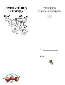 Christmas Cards (D) Christmas Math Worksheet